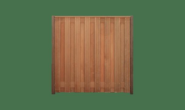 17-planks hardhouten schutting 180cm - hardhouten palen • Gras en Groen Schuttingen