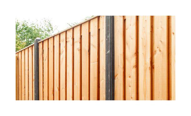 21-planks douglas schutting - beton antraciet 200cm • Gras en Groen Schuttingen