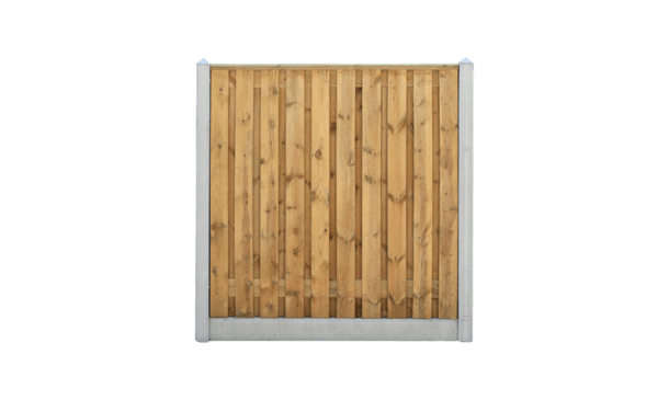 21-planks grenen schutting - beton grijs 200cm • Gras en Groen Schuttingen