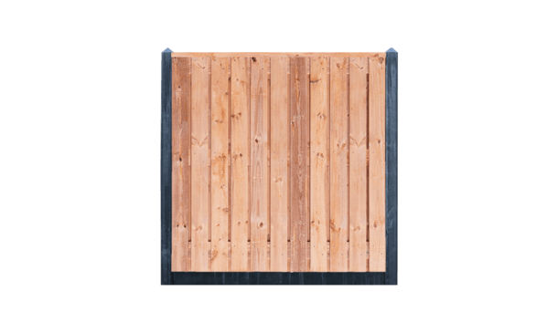 21-planks Red Class Wood schutting - beton antraciet 200cm • Gras en Groen Schuttingen