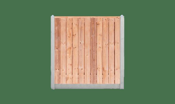 21-planks Red Class Wood schutting - beton lichtgrijs 200cm • Gras en Groen Schuttingen