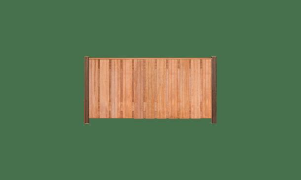 21-planks hardhouten schutting 90cm - hardhouten palen • Gras en Groen Schuttingen