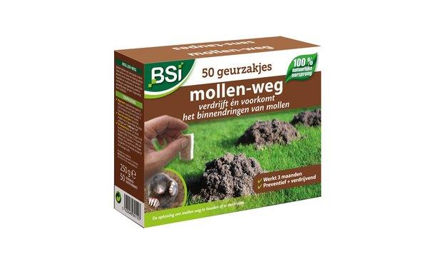 BSI Mollen weg zakjes • Gras en Groen Graszoden