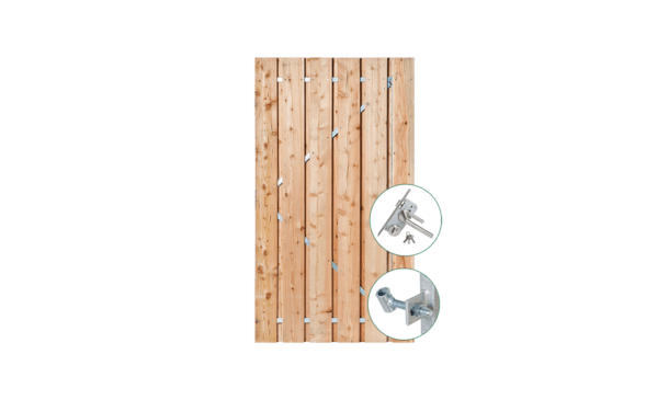 Douglas poort 90 cm incl. montage • Gras en Groen Schuttingen