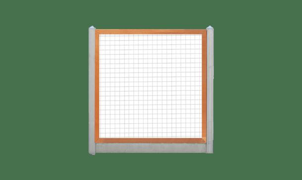 Trellisscherm douglas 180 cm i.c.m. beton lichtgrijs • Gras en Groen Schuttingen