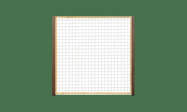 Trellisscherm grenen 180 cm i.c.m. hardhouten palen • Gras en Groen Schuttingen