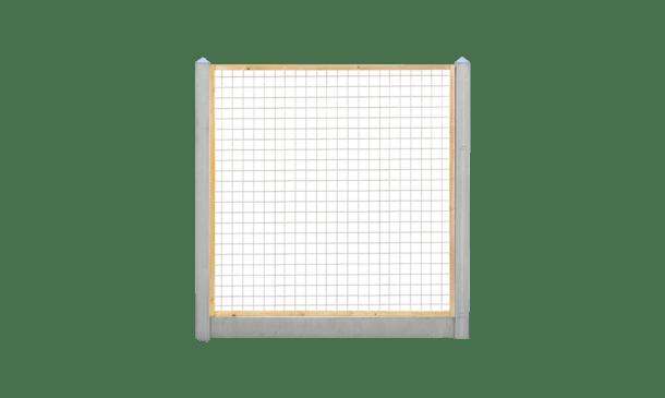 Trellisscherm grenen 180 cm i.c.m. beton lichtgrijs • Gras en Groen Schuttingen