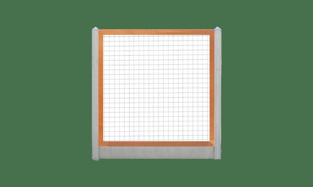 Trellisscherm  hardhout 180 cm i.c.m. beton lichtgrijs • Gras en Groen Schuttingen