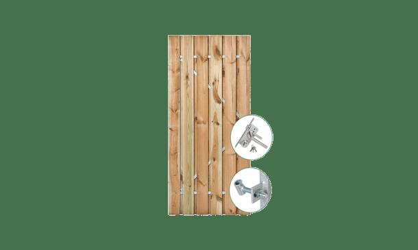 Grenen poort - stalen frame incl, sluitwerk - 90 cm • Gras en Groen Schuttingen