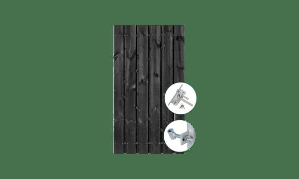 Zwart grenen poort 90 cm incl. montage • Gras en Groen Schuttingen
