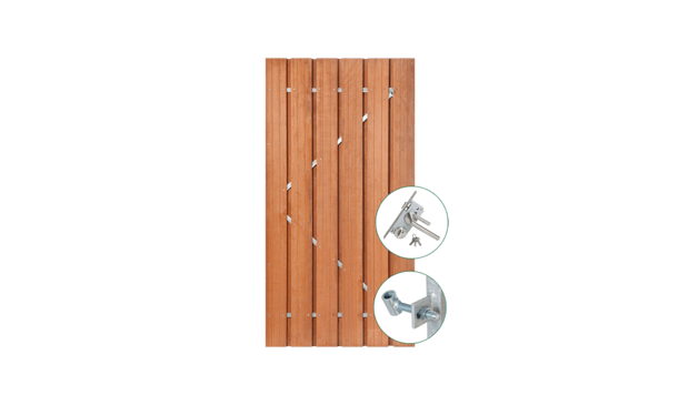Hardhouten poort 90 cm incl. montage • Gras en Groen Schuttingen