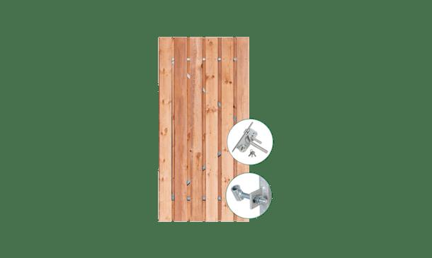 Red Class Wood poort 90 cm incl. montage • Gras en Groen Schuttingen