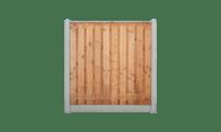 21-planks douglas schutting - beton grijs 200cm • Gras en Groen Schuttingen