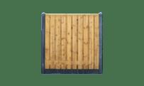 21-planks grenen schutting - beton antraciet 200cm • Gras en Groen Schuttingen