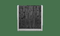 21-planks grenen schutting zwart - beton grijs 200cm • Gras en Groen Schuttingen