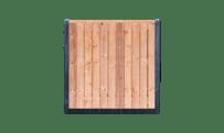 21-planks Red Class Wood schutting - beton antraciet 200cm • Gras en Groen Schuttingen