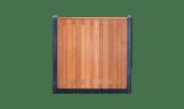 17-planks hardhouten schutting - beton antraciet 200cm • Gras en Groen Schuttingen