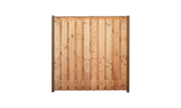 21-planks douglas schutting 180cm - hardhouten palen • Gras en Groen Schuttingen