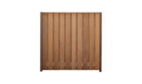 21-planks hardhouten schutting 180cm - hardhouten palen • Gras en Groen Schuttingen
