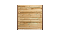 21-planks grenen schutting horizontaal 180cm- hardhouten palen • Gras en Groen Schuttingen