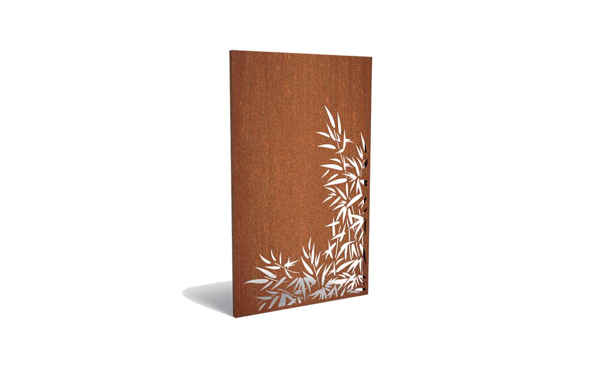Tuinpaneel corten bamboe rechts • Gras en Groen Winkel