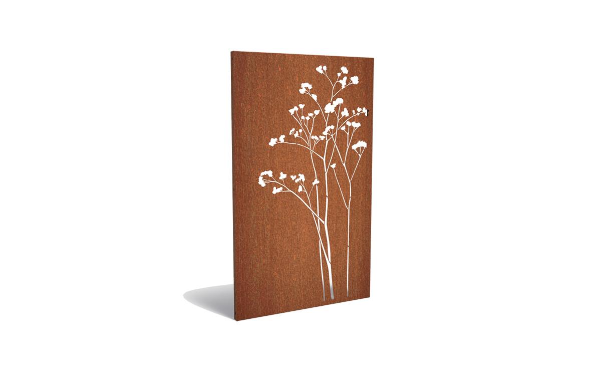 Tuinpaneel corten bloesem • Gras en Groen Winkel