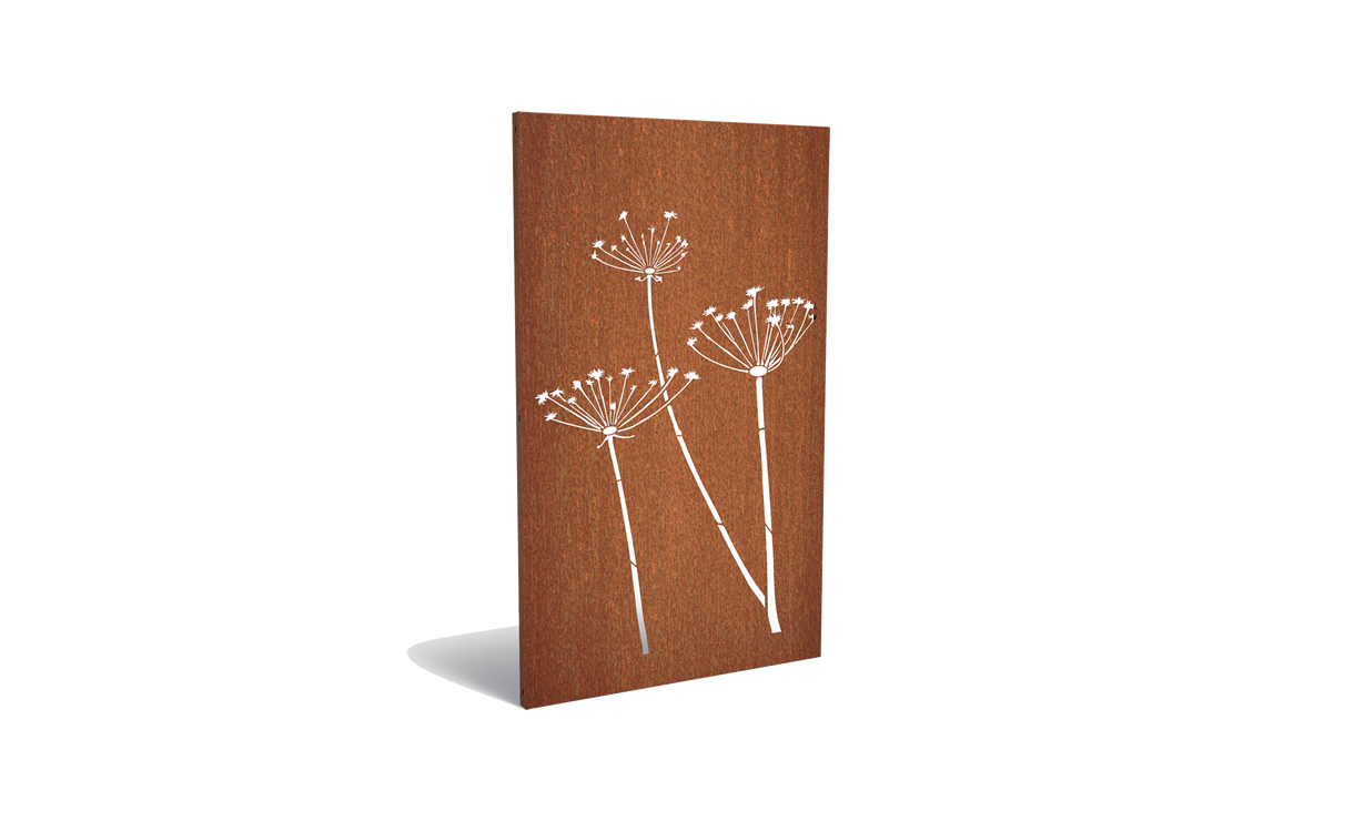 Tuinpaneel corten schermbloem • Gras en Groen Winkel